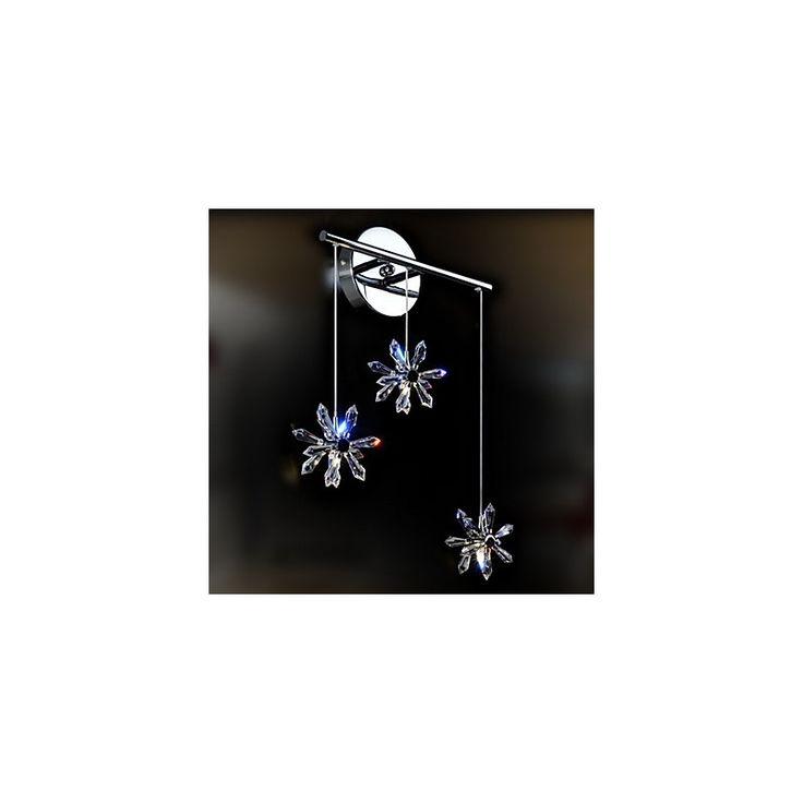 Kaufen (EU Lager)Kristall Wandleuchte mit 3 Leuchten - Floral Schirm mit Günstigste Preis und Gute Service!