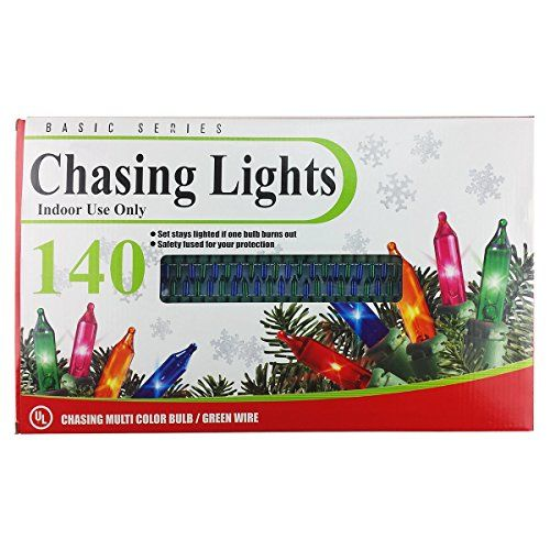 Set of 140 Indoor Multi-Color Holiday String Chasing Lights >>> Learn more @