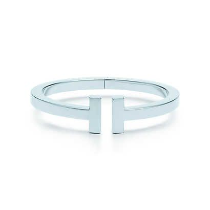 Tiffany T square bracelet in sterling silver, medium.