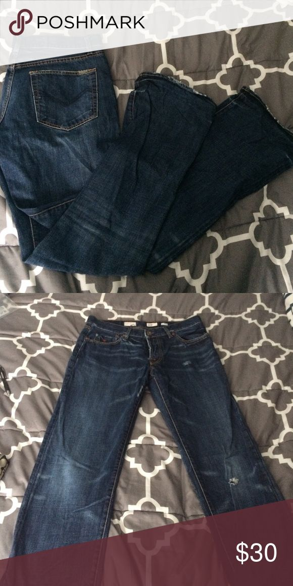 Energie jeans Great condition! Bottoms are slightly worn and there's a small hole in one knee but it looks like it's supposed to be there! Straight leg Energie Jeans Straight
