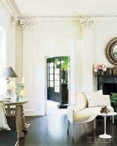 shaded white farrow and ball - Yahoo Image Search Results. Love the dark wood floor.