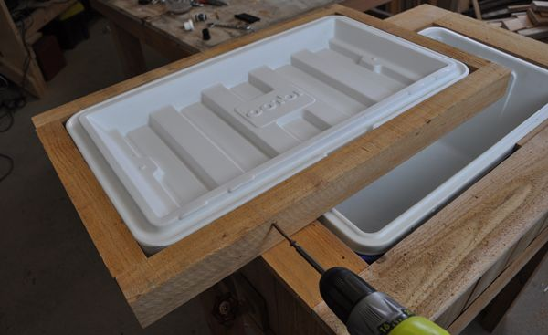 Learn how to build a Patio Cooler ice chest with DIY PETE. Free Video, Plans, and Tutorial.