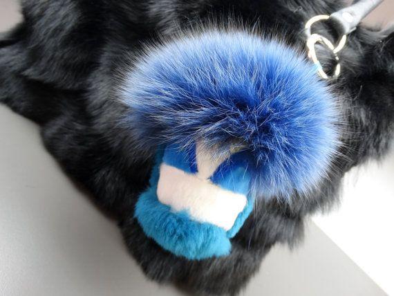 Bag charmFur Monster Charm for Handbag by FilimegasFurs on Etsy
