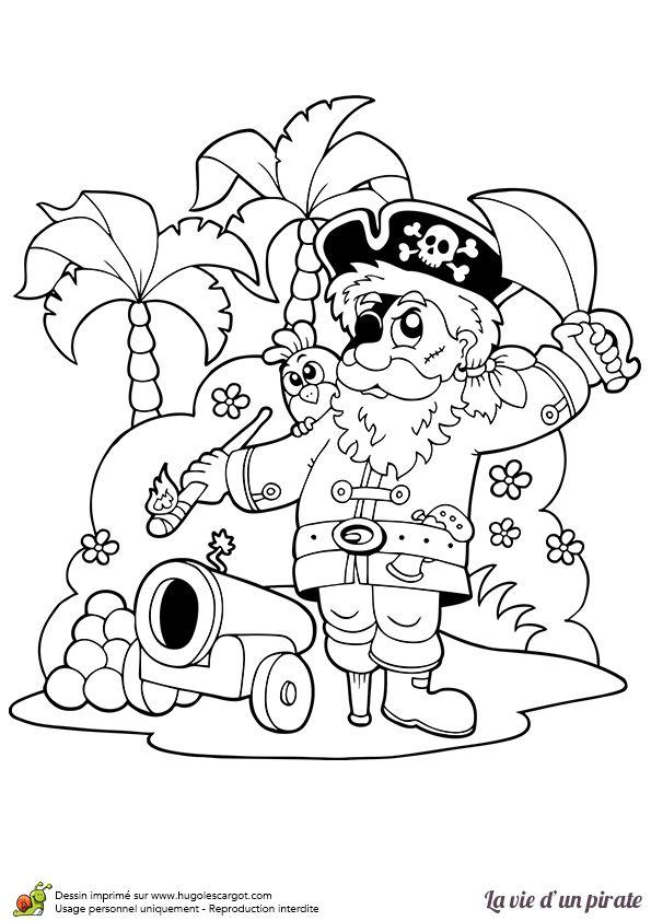 Les 72 meilleures images du tableau coloriages de pirates - Bateau pirate coloriage ...