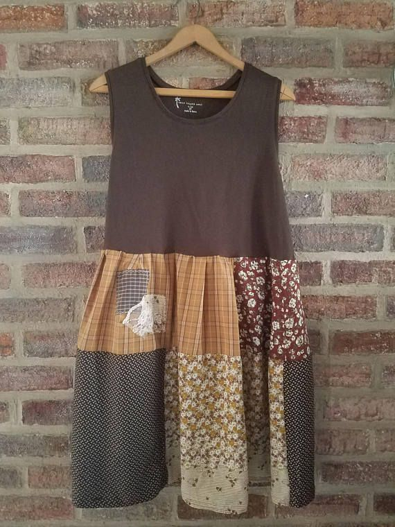 XXL 1X 2X  Sleeveless Upcycled Loose Fitting Cotton Blouse/