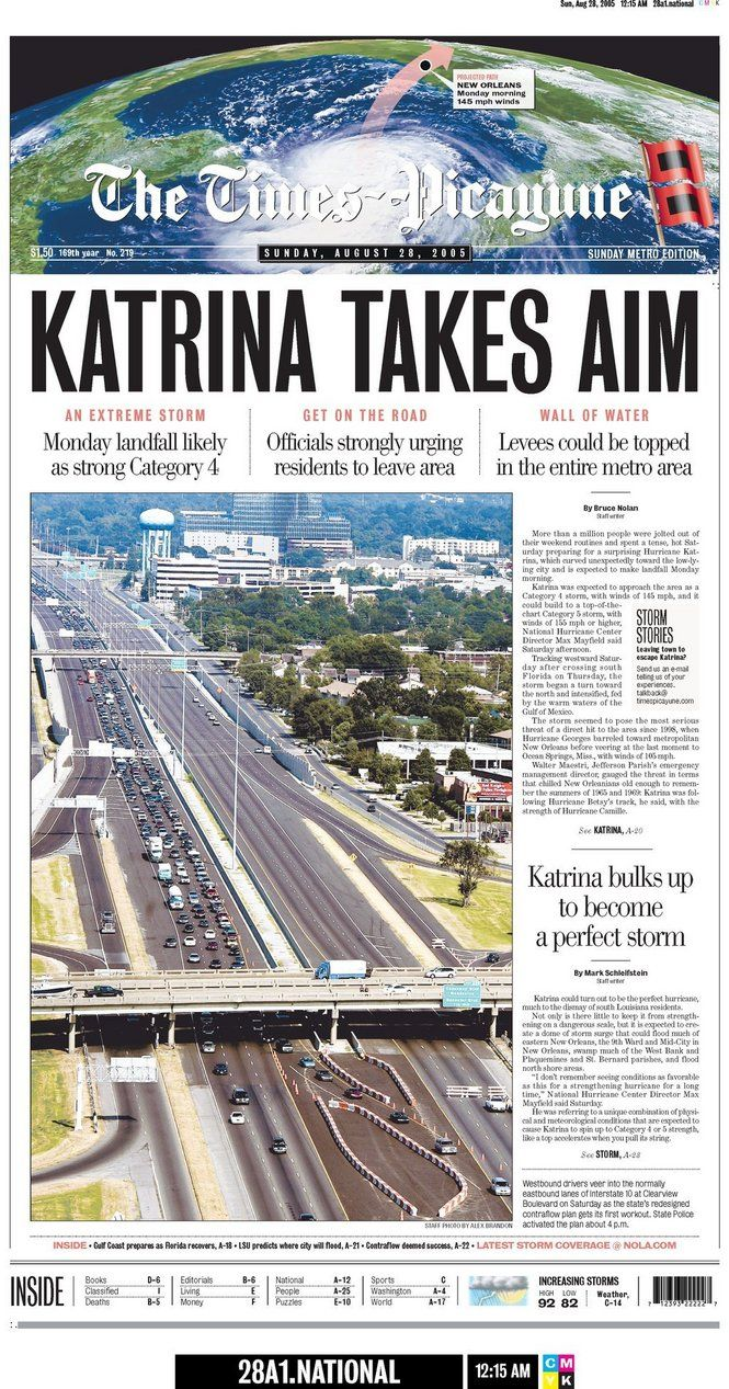 hurricane katrina paper When hurricane rita struck just one month after katrina ravaged us, a few of the levee breach patches could not hold back surge from rita even though she made landfall on other side of louisiana it's not safe here.