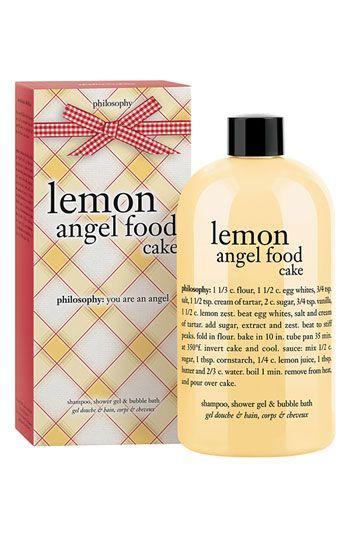 philosophy 'lemon angel food cake' shampoo, shower gel & bubble bath   Nordstrom