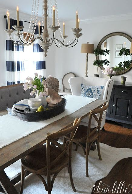 Beautiful Blue Dining Rooms: We Thought It Would Be Fun To Add Some Blue To Our Dining