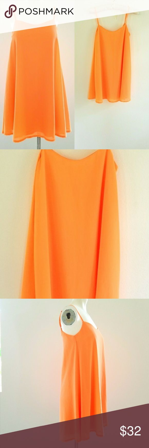Ally B] Orange Tank Dress❤ Size 4❤ Preowned Excellent Condition Ally B] Orange Strapless Dress with zipper in the back. The strapless are adjustable ❤ Size 2❤ Wonderful for Summer Day.❤ Material  ❤100% Polyester ❤ Measurement ❤25 inches long❤ ❤16 inches from arm pit to arm pit❤  $32 Ally B Dresses Mini #tankdress