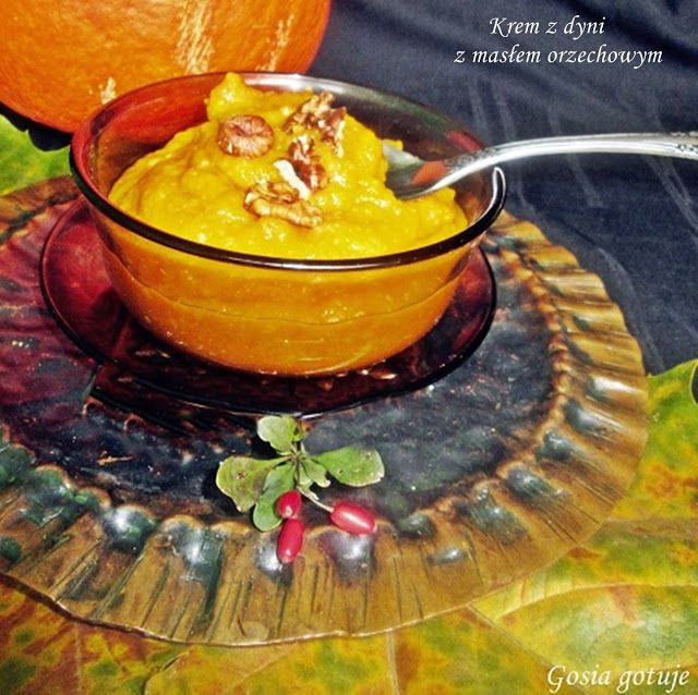 Gosia gotuje: Krem z dyni z masłem orzechowym