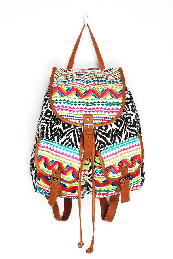 Bohemian Aztec Print Backpack