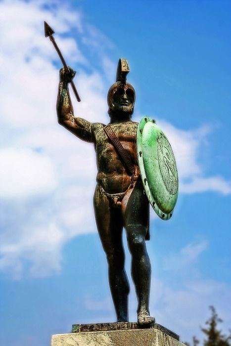 See the statue of Leonidas at Thermopylae