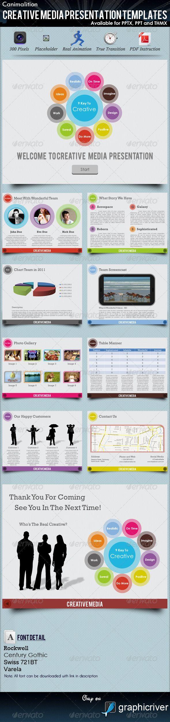 Creative Media Presentation Templates