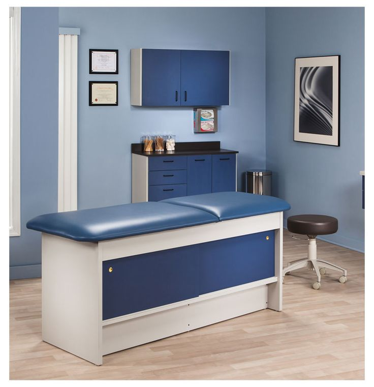 clinton industries cabinet style laminate treatment table has easyclean laminate surfaces with two sliding