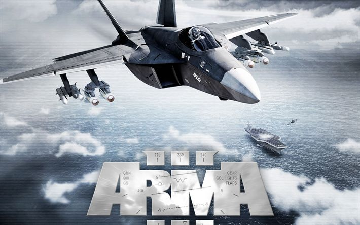Descargar fondos de pantalla Arma 3, cartel, shooter táctico