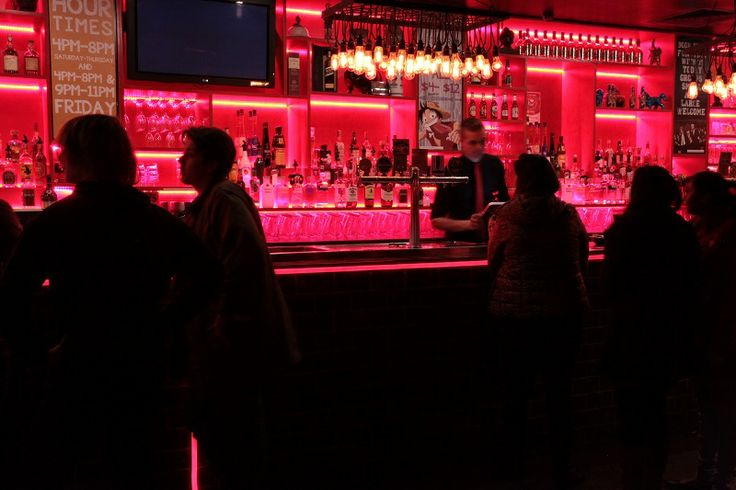 Late Night Drinks at the Bar at Asian Beer Cafe