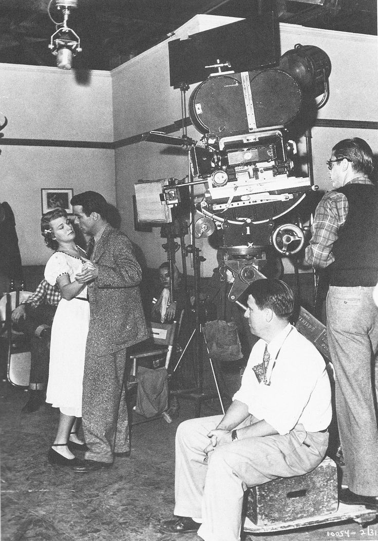 Monty and Shelley Winters rehearse as George Stevens watches