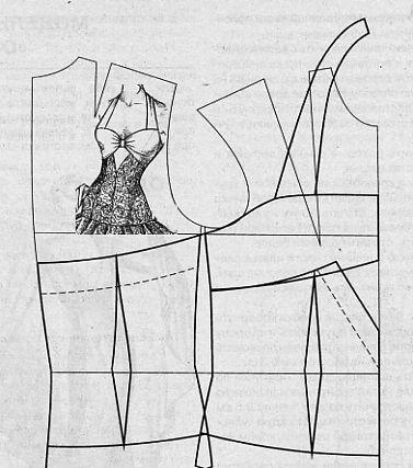 pattern making - corset style top