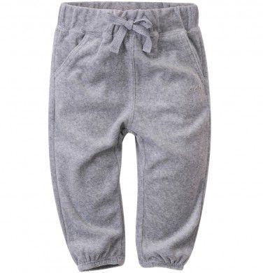 Spodnie welurowe dla niemowlaka, kolekcja: Mini Endo paski