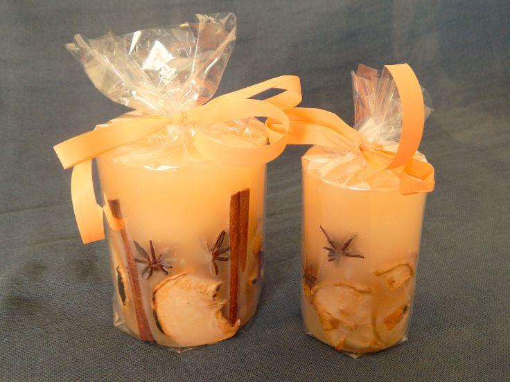 Χειροποίητα αρωματικά κεριά με άρωμα βανίλιας, καρπούς και αποξηραμένα φρούτα. http://www.kirofos.gr/