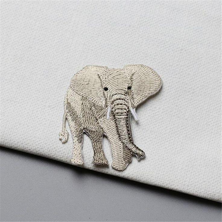 Aliexpress.com: Comprar 1 UNIDS Delicado Elefante Bordado de Parches de Hierro En Remiendo para la Ropa Jeans Mochila Decoración Gule En La Parte Posterior de patch iron on fiable proveedores en HEY YONNIEX Store
