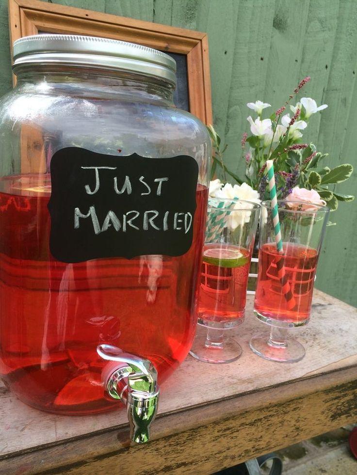 8 Litre Kilner/ Mason Type Drink Wine Beverage Dispenser Glass Jar Tap Cocktails