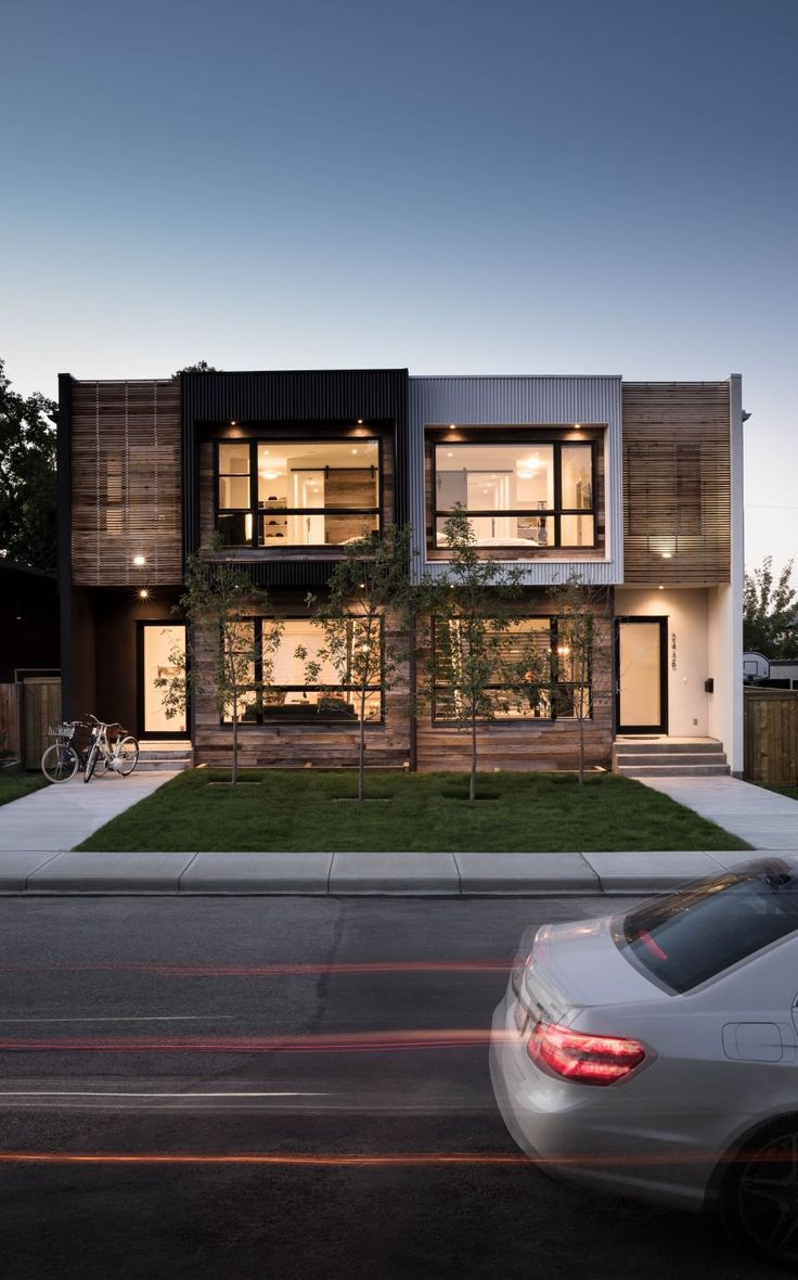 43 best duplex images on pinterest for Modern townhouse exterior