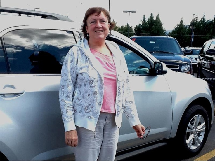 """Gail Remiss and her new 2012 Chevy Equinox: """"Love my new car!"""""""
