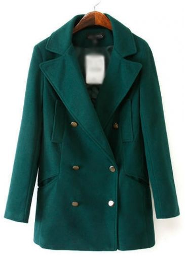 Fine Quality Long Sleeve Turndown Collar Woolen Coat  with cheap wholesale price, buy Fine Quality Long Sleeve Turndown Collar Woolen Coat  at wholesaleitonline.com !