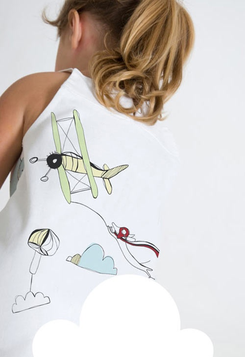 Flying Higher from the Petit Vogue fabric collection by Victoria Verbaan & the smoking daxi