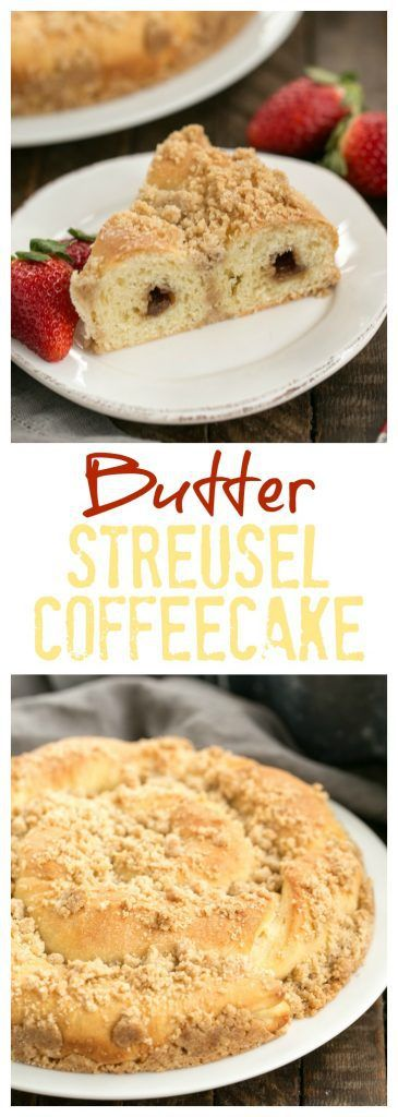 Copycat Sara Lee Butter Streusel Coffeecake is a tender, buttery breakfast treat with a generous cinnamon streusel topping #breakfast #coffeecake #streusel
