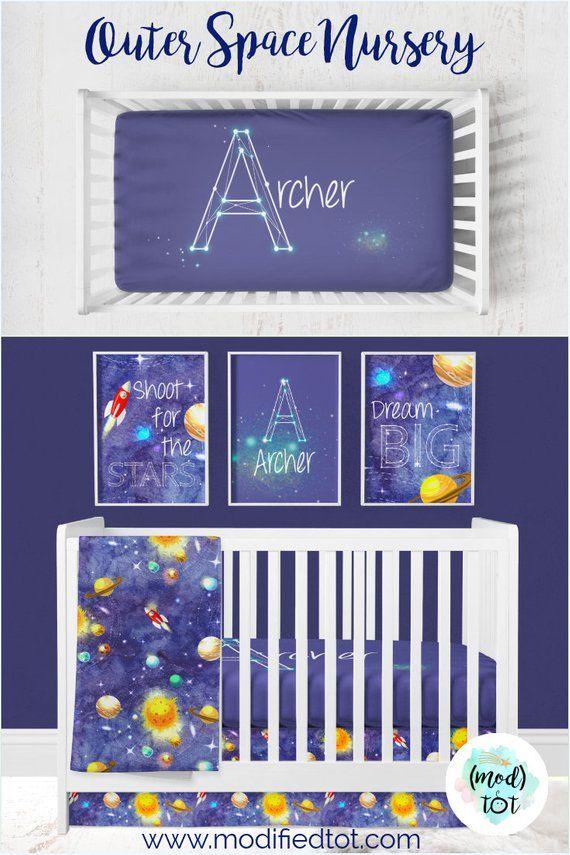 Baby Boy Nursery Crib Bedding Shower Gift Solar System