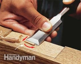 A sharp wood chisel can cut mortises, shave rough surfaces, chop out corners and scrape off glue. We'll demonstrate these techniques and show you how to sharpen your chisel. The wood chisel is an indispensable member of your tool set. We'll show you how to get the most out of it.