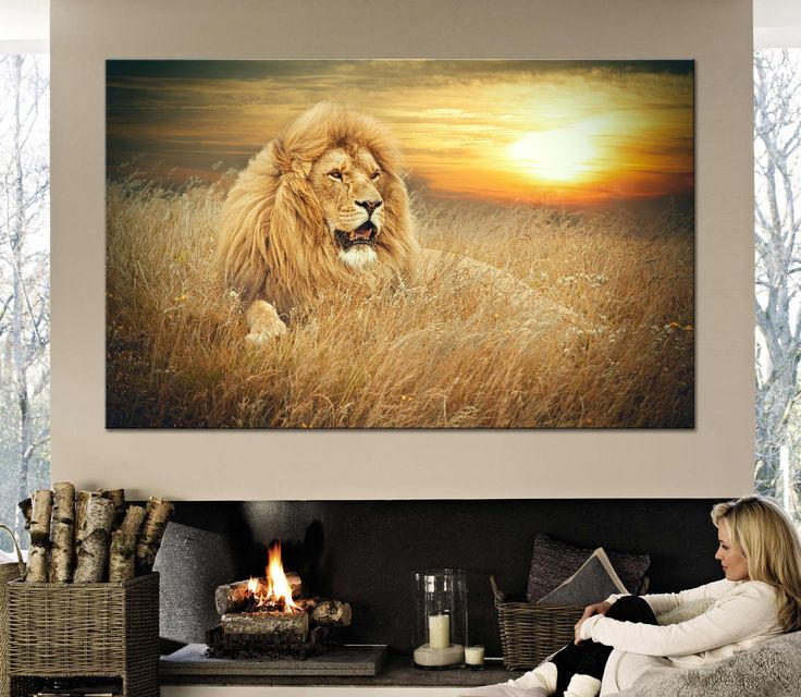 Large Canvas Print African lion. Ferocious stare of a powerful African lion.Multi Panel Canvas Print Ready to Hang by CanvasPrintStudio on Etsy