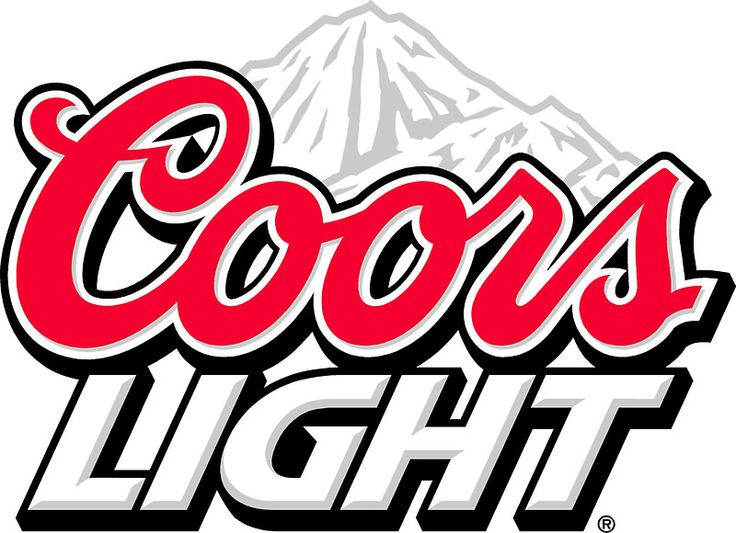 Coors light beer sticker by