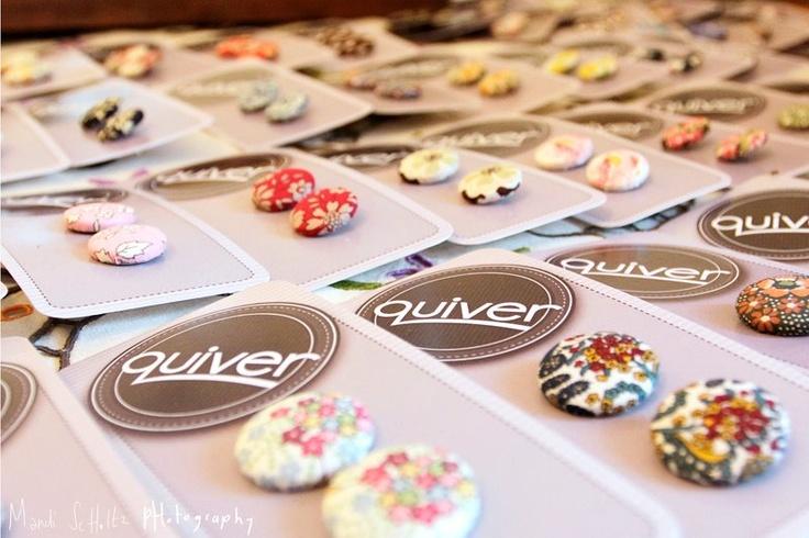 Button earrings.....