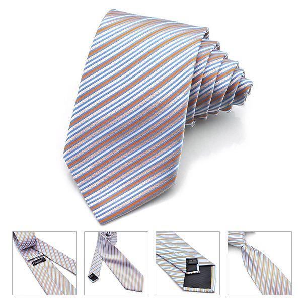 PenSee Mens Tie Jacquard Woven Silk Twill Stripes & Plaids Necktie-various Colors