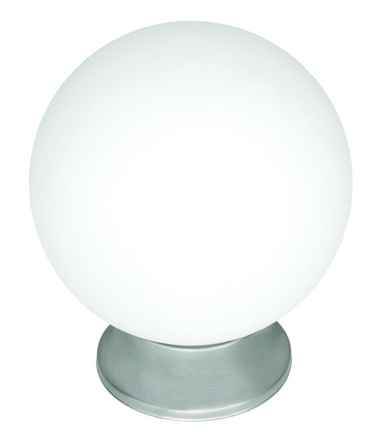 "Sphere 8"" DIY Glass Ball in Brushed Steel"