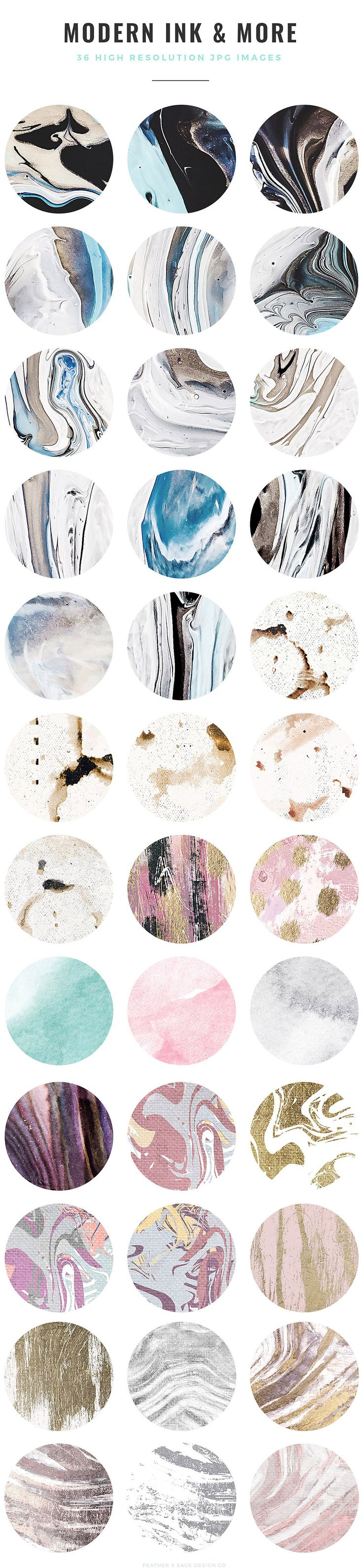 Bold And Unique Patterns To Make Your Work Stand Out If you love abstract patterns, this collection is for you! Made using mixed media including everything from watercolor, fluid acrylics, gouache paints, digital textures, and ink. Inspired by abstract paintings, agate rock banding patterns, coffee stains, wood grain, grunge textures, and perfectly imperfect hand drawn ... read more