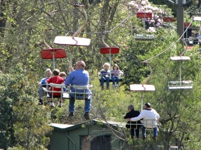 The Basin Chairlift in Launceston, Cataract Gorge.