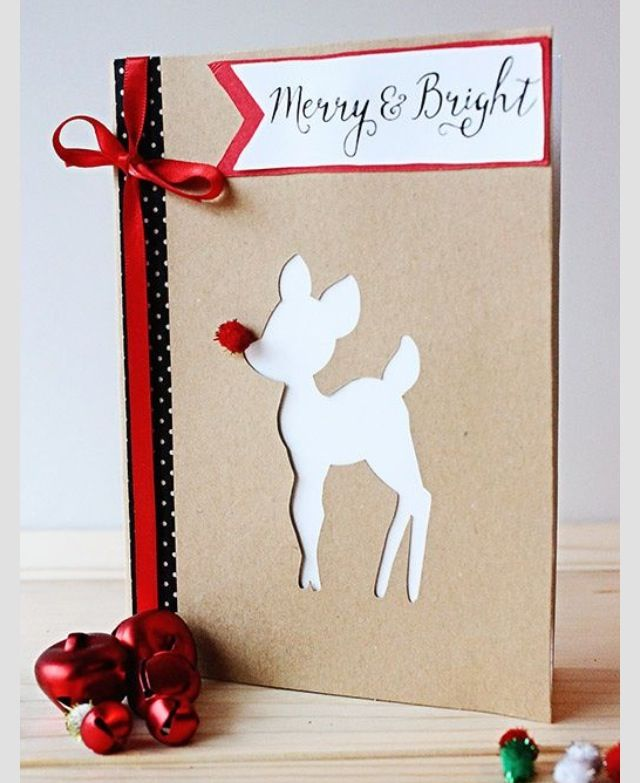 Christmas card - cut out reindeer