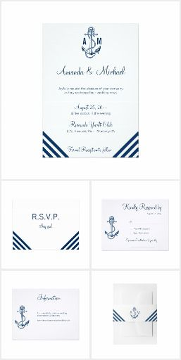 Nautical Wedding Stationery #ad #nautical #anchor #blue #navy #wedding #invitation #nauticalwedding #beachwedding #destinatiowedding #oceanwedding #summerwedding #outdoorwedding #weddinginvitations #weddingideas #invitation