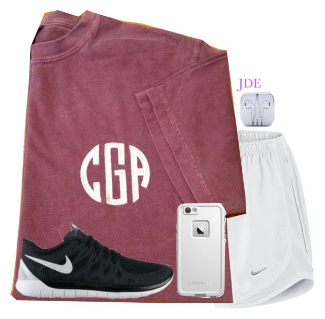 Run after a long day by jane-dodge on Polyvore featuring NIKE and LifeProof