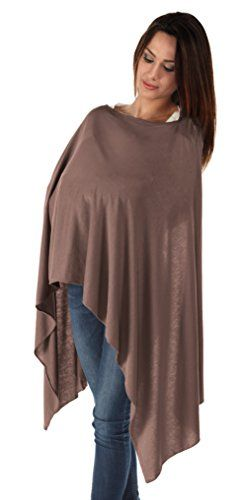 BambooMama Bamboo Breastfeeding Scarf - Cocoa - Discreet Nursing Cover And Scarf In One - The Ideal Gift For A New Mother