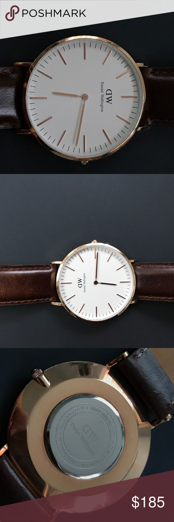 DANIEL WELLINGTON CLASSIC BRISTOL 40mm ROSE GOLD Daniel Wellington Classic Bristol in Rose Gold. Used a few times.  Purchased directly from Daniel Wellington.com. Comes with original box and paperwork. Daniel Wellington Other