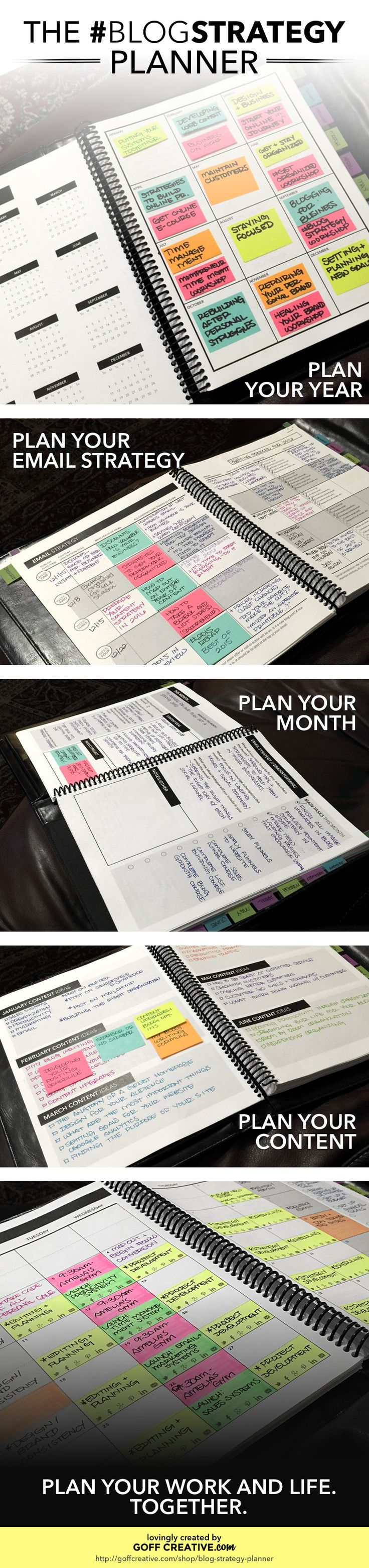 #BlogStrategy Planner Preview | GoffCreative.com                                                                                                                                                                                 More