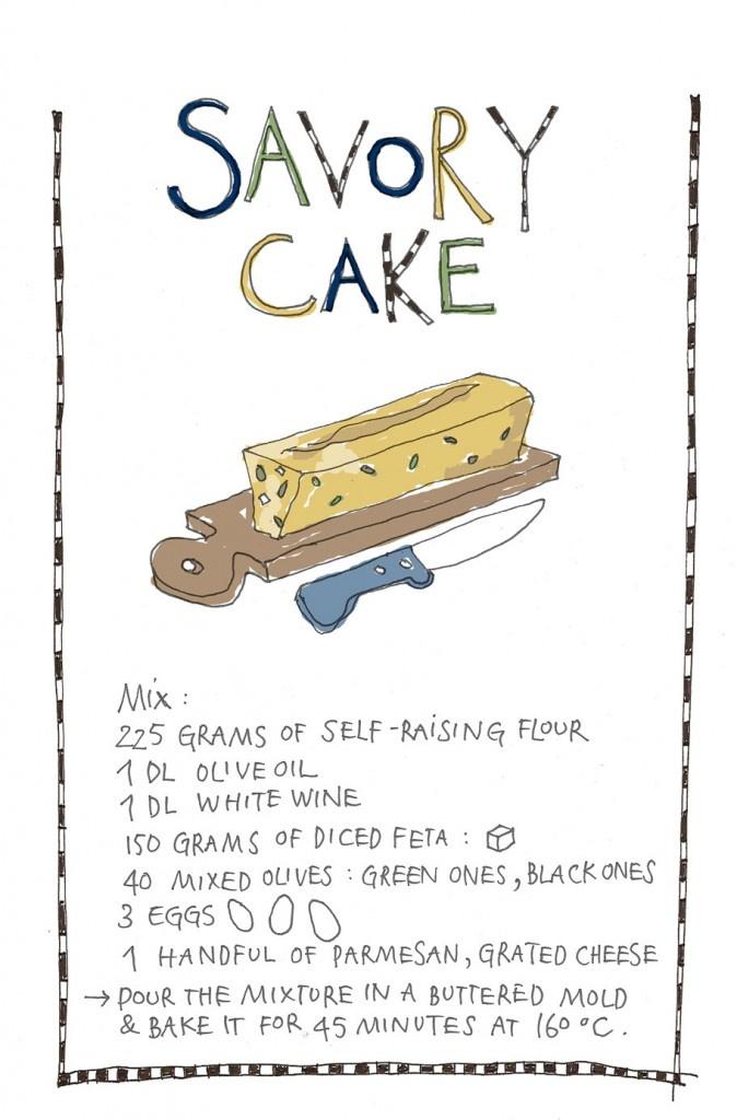 Savory Cakes. Yvette Van Boven recipe illustrations