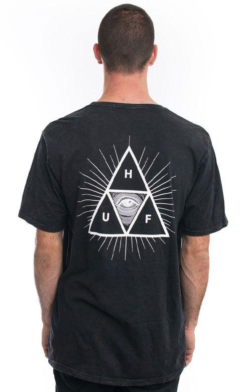 Huf, Third Eye Triple Tri Wash T-Shirt - Black - HUF - MOOSE Limited