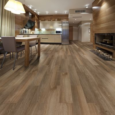 vinyl tiles looks and feels like wood - Geflschte Hartholzbden Ber Teppich