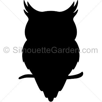 Owl silhouette clip art. Download free versions of the image in EPS, JPG, PDF, PNG, and SVG formats at http://silhouettegarden.com/download/owl-silhouette/